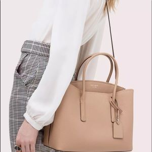 Kate spade light fawn LARGE MARGAUX work tote NEW
